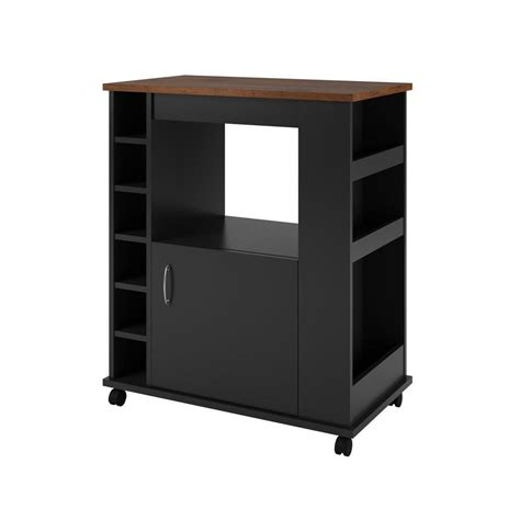 altra furniture landry 23 63 in w microwave kitchen cart