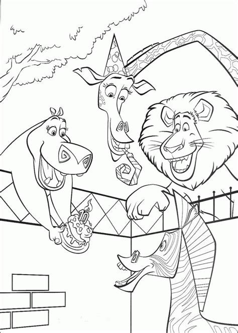 madagascar coloring pages coloringpages1001 com