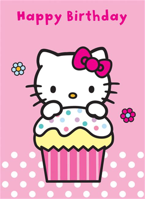 hellokitty b day cards happy birthday hello kitty card