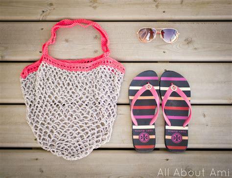 crochet pattern mesh bag crochet mesh bag all about ami