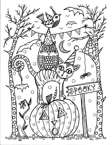 halloween coloring pages download 5 pages instant download halloween coloring pages 5 different