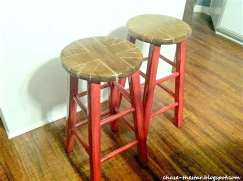 updated stools with chalk paint 174