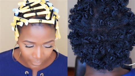 perm rods 4c hair perm rod set on short 4c hair youtube
