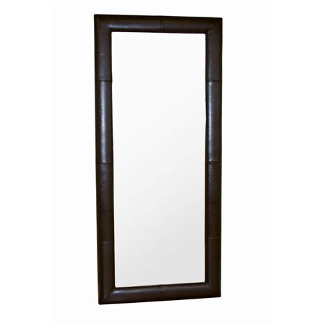 wholesale interiors floor mirror with bycast leather frame