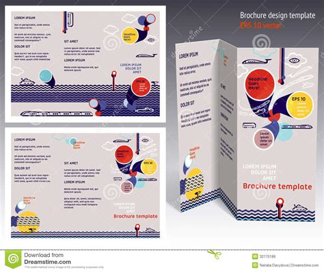booklet layout design download brochure booklet z fold 2 side layout editable design