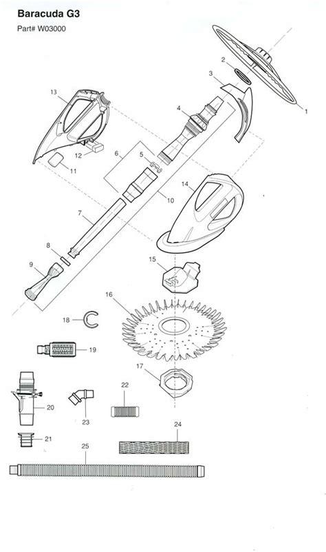 baracuda g3 parts diagram swimming pool cleaner parts baracuda g3
