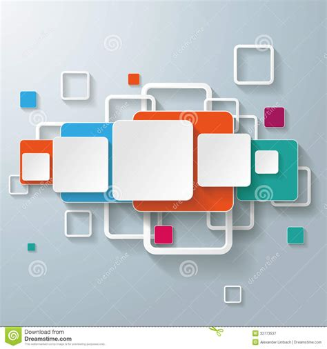 design rectangle html colorful geometric squares with option infographic