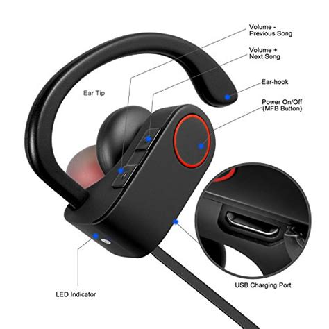 Headset Bluetooth For Android everdigi bluetooth headphones wireless stereo sports earbuds with microphone in ear noise