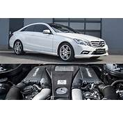Mercedes E Class Coupe Gets AMG Bi Turbo V8 Engine Swap By