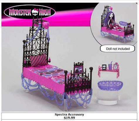 monster high beds monster high spectra vondergeist bed playset spectra and rochellegoyle