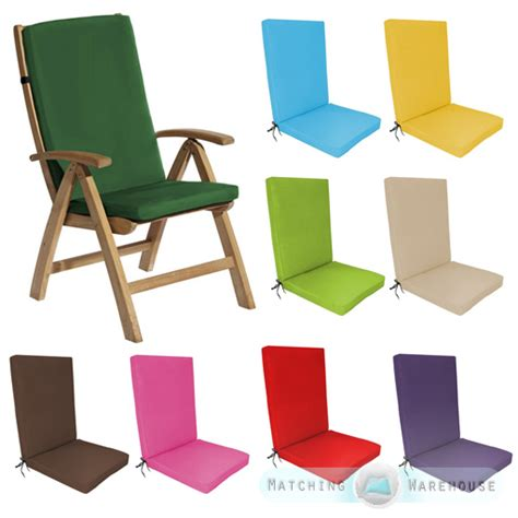 cushions for reclining garden chairs highback garden dining chair cushion pad outdoor furniture