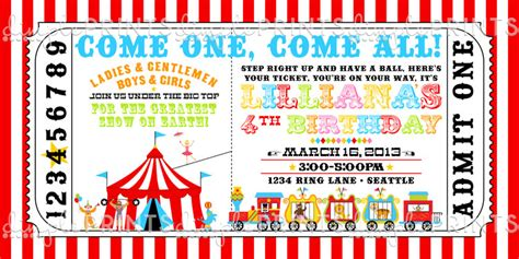 printable circus tickets circus ticket birthday party invite dimple prints shop