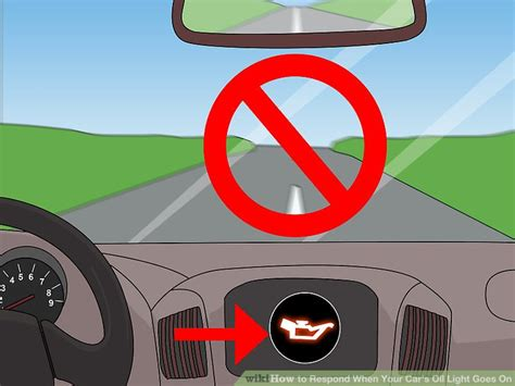 ways  respond   cars oil light   wikihow