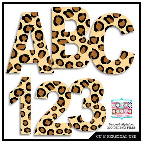 printable animal numbers leopard animal print digital alphabet and by