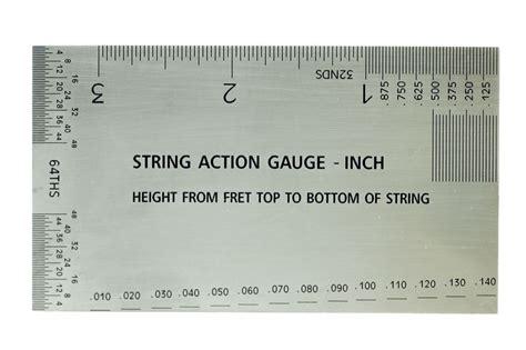 printable guitar ruler guitar string action setup gauge inch ruler with