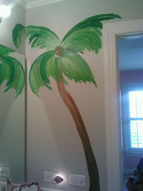 beach theme palm tree in bathroom athousandwordsmurals