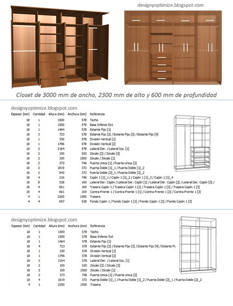 diseno de muebles madera fabricando closet  metros de
