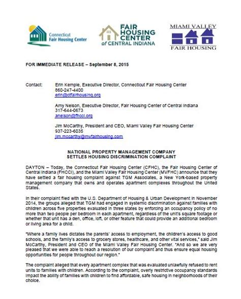 Complaint Letter To Property Management Company News The Miami Valley Fair Housing Center