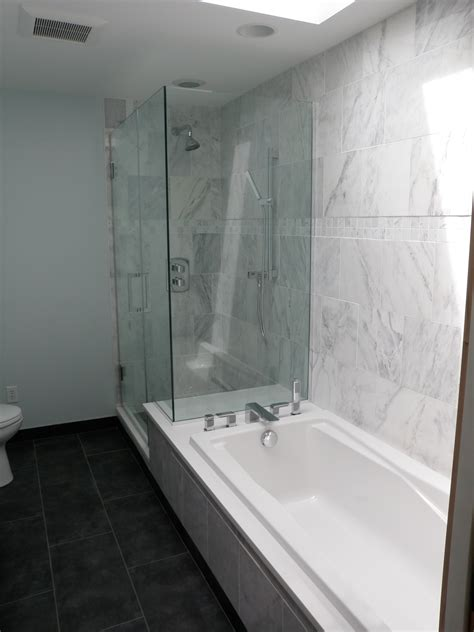 Shower Into Bathtub laurelhurst bathroom remodel after in brief from the