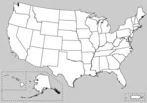 unlabeled map of united states maps us map unlabeled