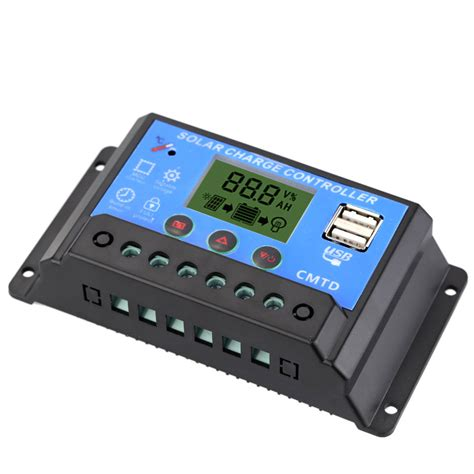 10a solar charge controller with lcd display auto regulator timer multi functional solar charge
