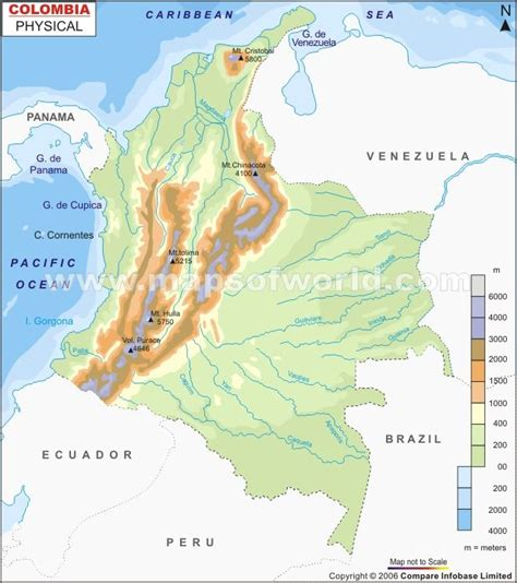 physical map of colombia 41 best images about maps w thematic data on