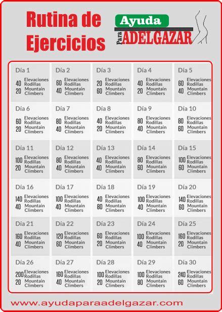 plan de ejercicios para adelgazar en casa rutina de ejercicios1 png 439 215 616 salud pinterest