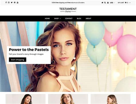 shopify themes testament 20 best shopify themes 2018 athemes