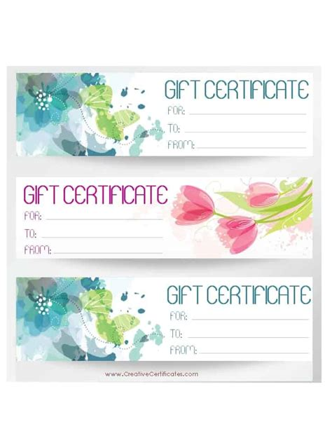 gift card template free free gift certificate template customize and