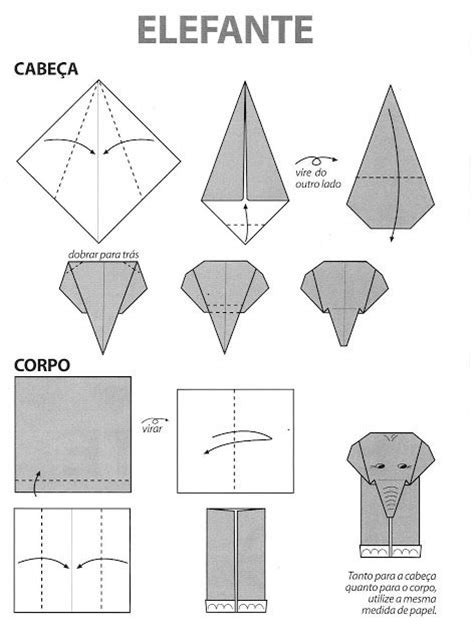 Origami Elephant Easy - tutorial origami elefante