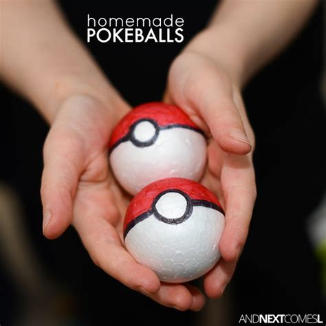 How To Make Pokeballs Out Of Paper - diy pokeballs and next comes l