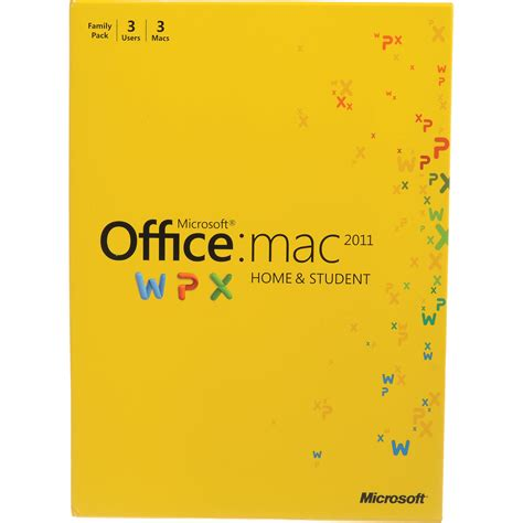 Microsoft Office For Mac Home Student microsoft office for mac home and student edition 2011 w7f 00014