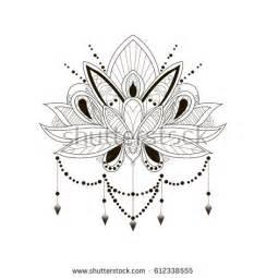 Eye Of The Lotus Piercing Prices Vector Ornamental Lotus Flower Ethnic Stock Vector
