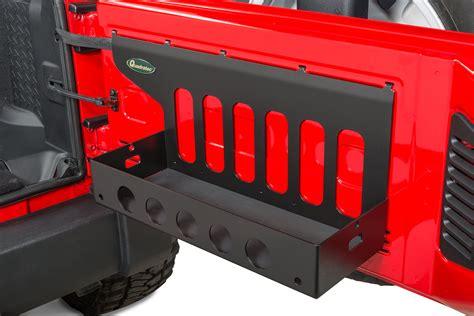jeep jk tailgate storage quadratec tailgate cargo shelf for 07 18 jeep wrangler jk