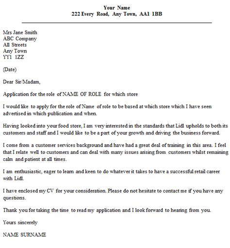 Resume Sample Store Manager by Lidl Cover Letter Example Icover Org Uk
