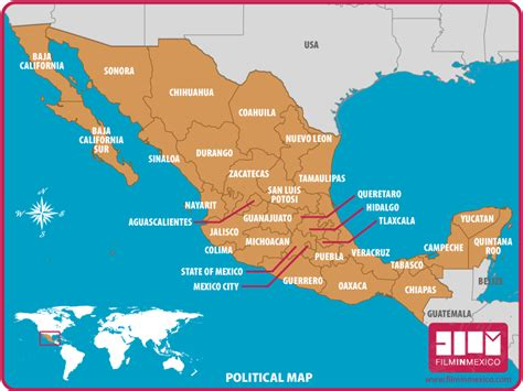 map of mexico political in mexico maps