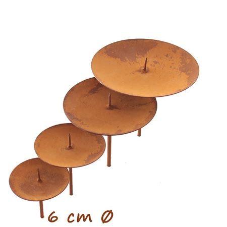 kerzenuntersetzer adventskranz adventskranz kerzenhalter edelrost 6 cm eur 1 90