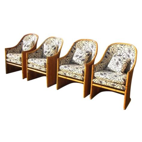Mcguire Dining Chairs Vintage Mid Century Mcguire Rattan Dining Chairs Reduced 20 At 1stdibs