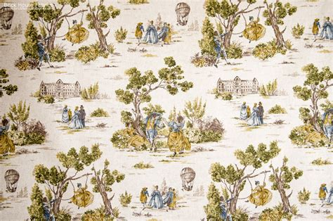 Discount Room Dividers - yellow gold blue toile fabric french country vintage look traditional fabric portland