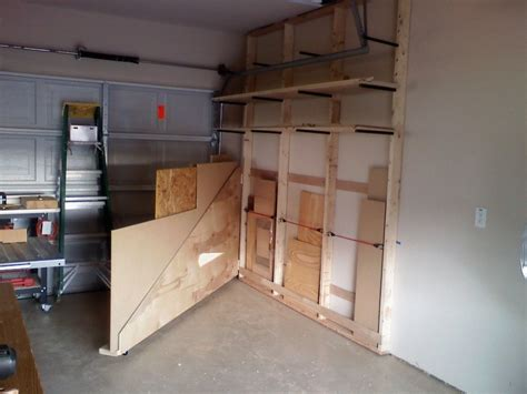 Garage Lumber Storage Ideas Lumber Rack By Mziem Lumberjocks Woodworking