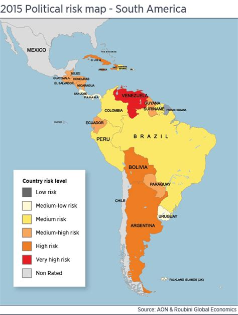 south america map bully prices pose political risk aon