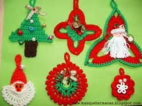 adornos navideos a crochet adornos navide 241 os tejidos al crochet imagui