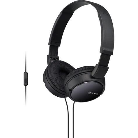 Headset Sony Bass sony mdr zx110ap bass smartphone headset mdrzx110ap b b h