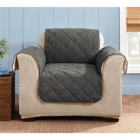sure fit recliner cover instructions sure fit 174 reversible suede sherpa chair pet cover