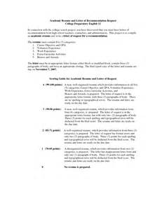College Letter Of Recommendation Resume Sle Request For Letter Of Recommendation From Employer Free Resumes Tips
