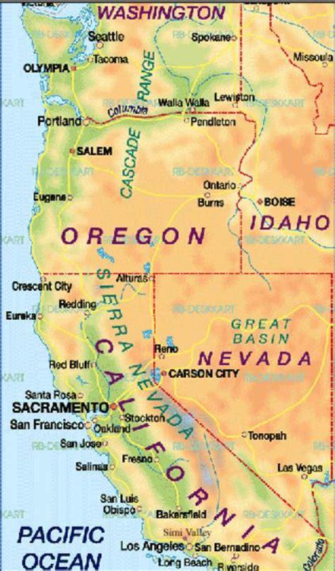 map usa california map california usa