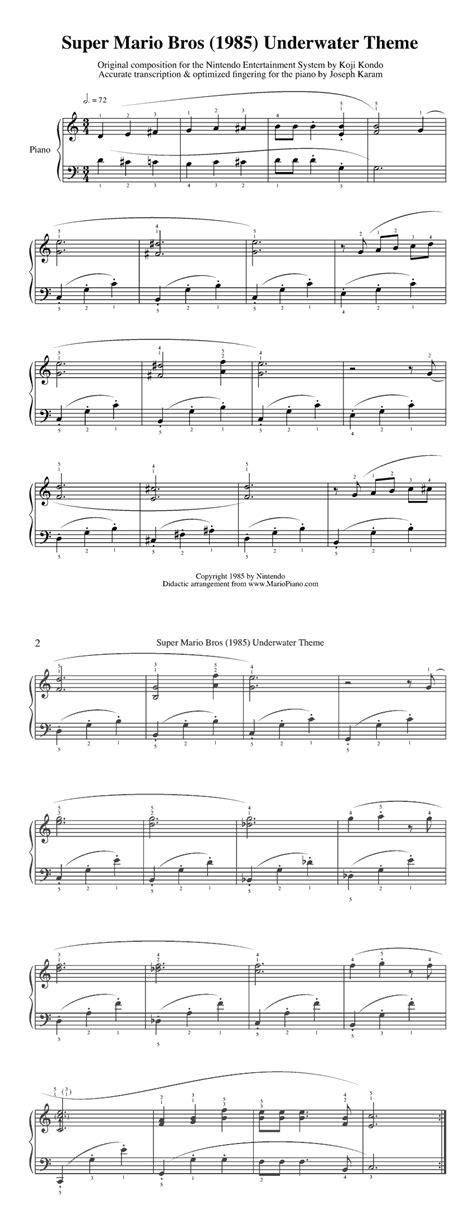theme music mario super mario sheet music zeldapalooza pinterest sheet