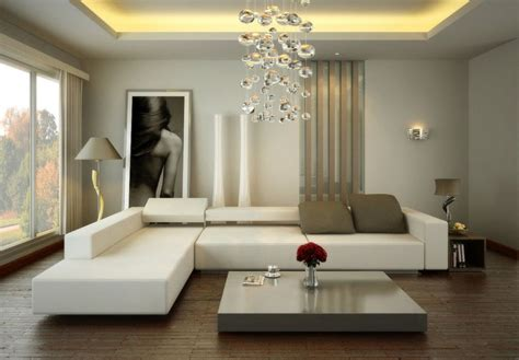 small living room design ideas with l shape white sofa and low coffee table above brown