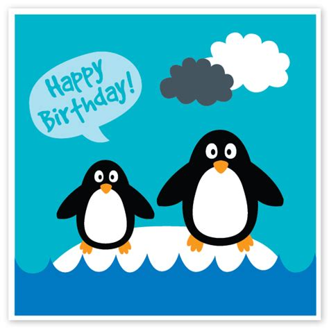 Penguin Birthday Cards Happy Birthdays 4 2 16 Theshaveden