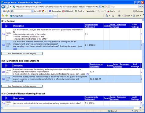Iso 13485 Audit Checklist Iso 13485 Templates